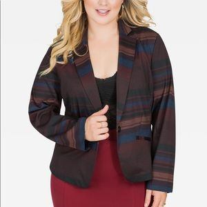Ashley Stewart Stripe Blazer